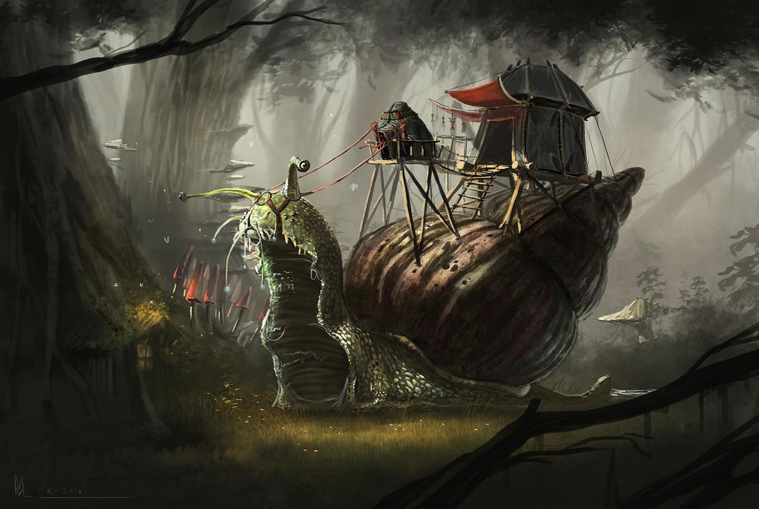 Snail Raider by highdarktemplar
