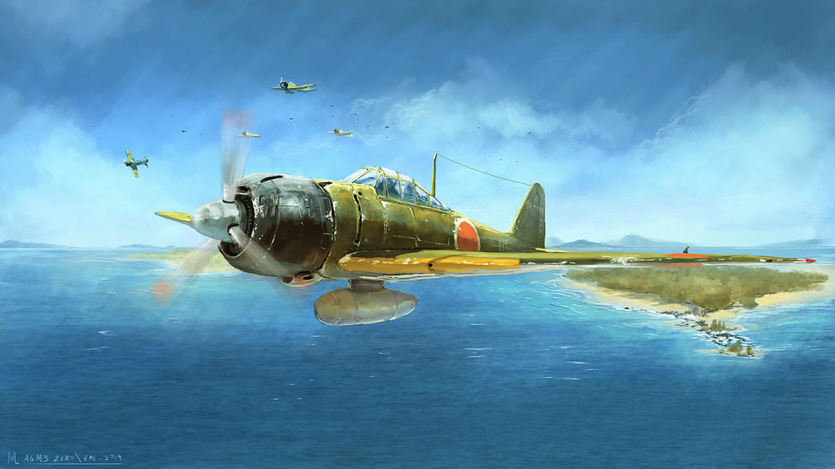 A6M3 Zero by highdarktemplar