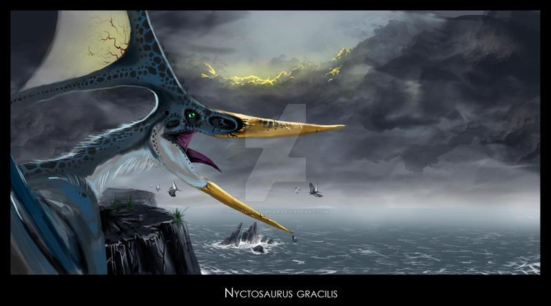 nyctosaurus by highdarktemplar on deviantart