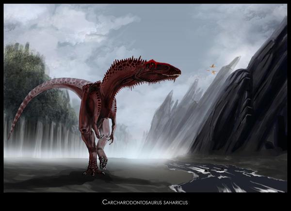 Carcharodontosaurus saharicus by highdarktemplar