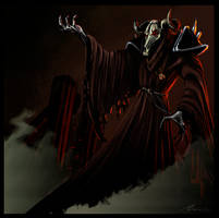 Skull Wizard by highdarktemplar