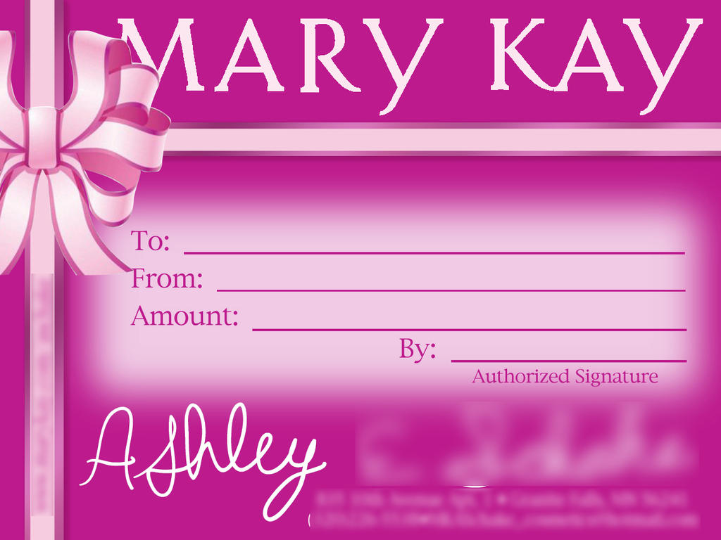 Mary Kay Gift Certificates Printable – Gift Ftempo