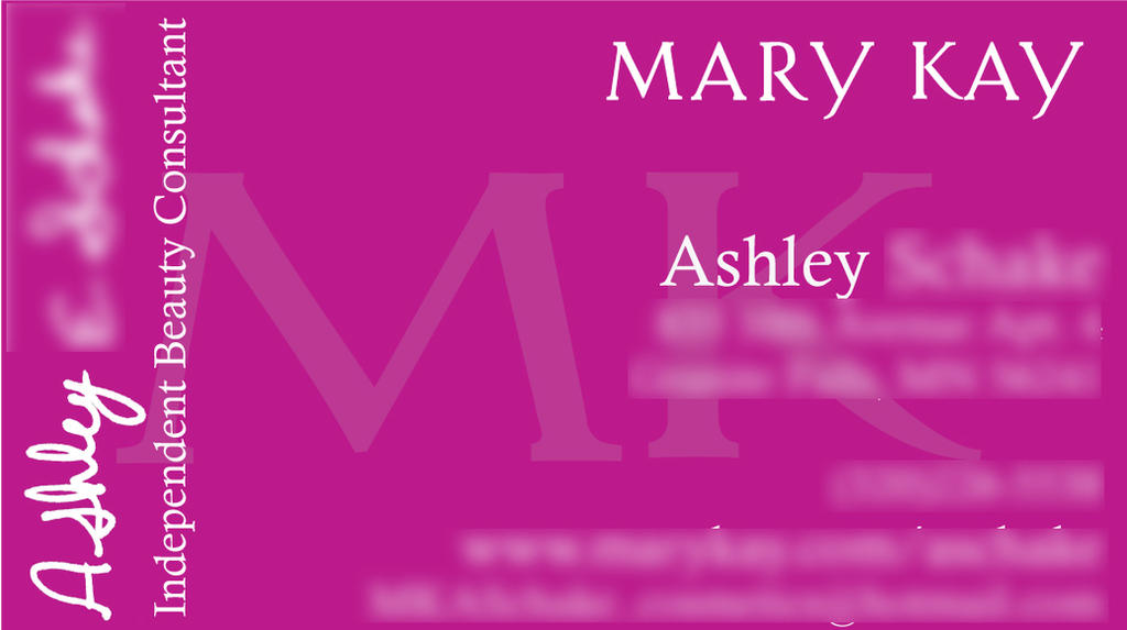 Mary Kay Business Card by meganleigh85 on DeviantArt