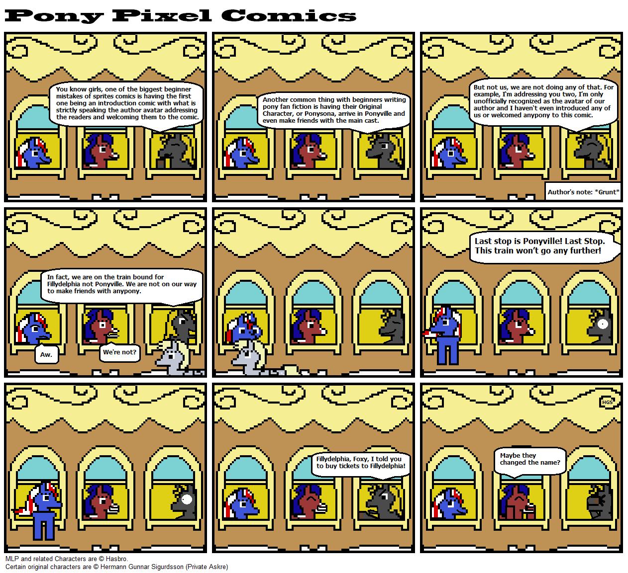 A Pony pixel comic #1 by Askre5