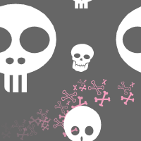 Seamless Girl Skulls by pvtpyro