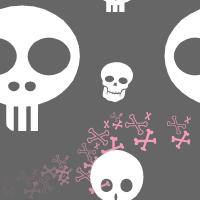 Seamless Girl Skulls by pvtpyro