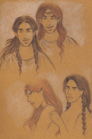 Maedhros anf Fingon sketches by Annathelle26