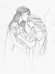 Feanor wedded Nerdanel by Annathelle26