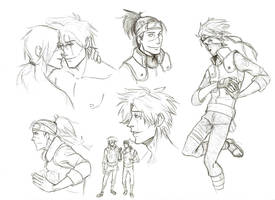 Kakashi and Iruka sketches