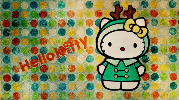 Hello Kitty Chrismas Wallpaper 1366 x 768