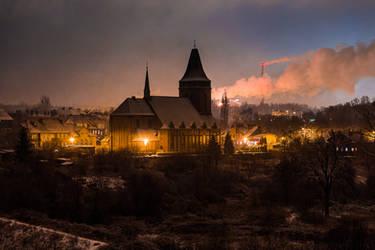 Church and smoke by RafalBigda