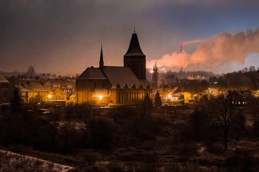 Church and smoke