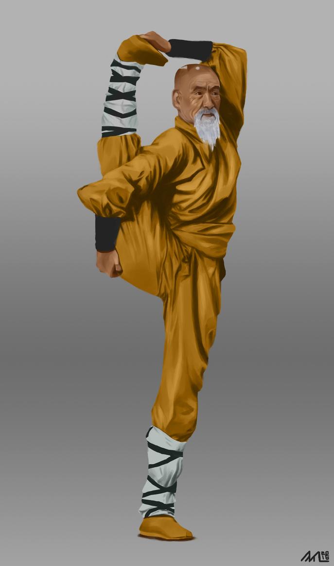 Shaolin monk study by LT-metamorphose-LT