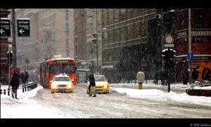 Snow in Belgrade