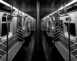 Dark NYC IX- Empty Subway Car