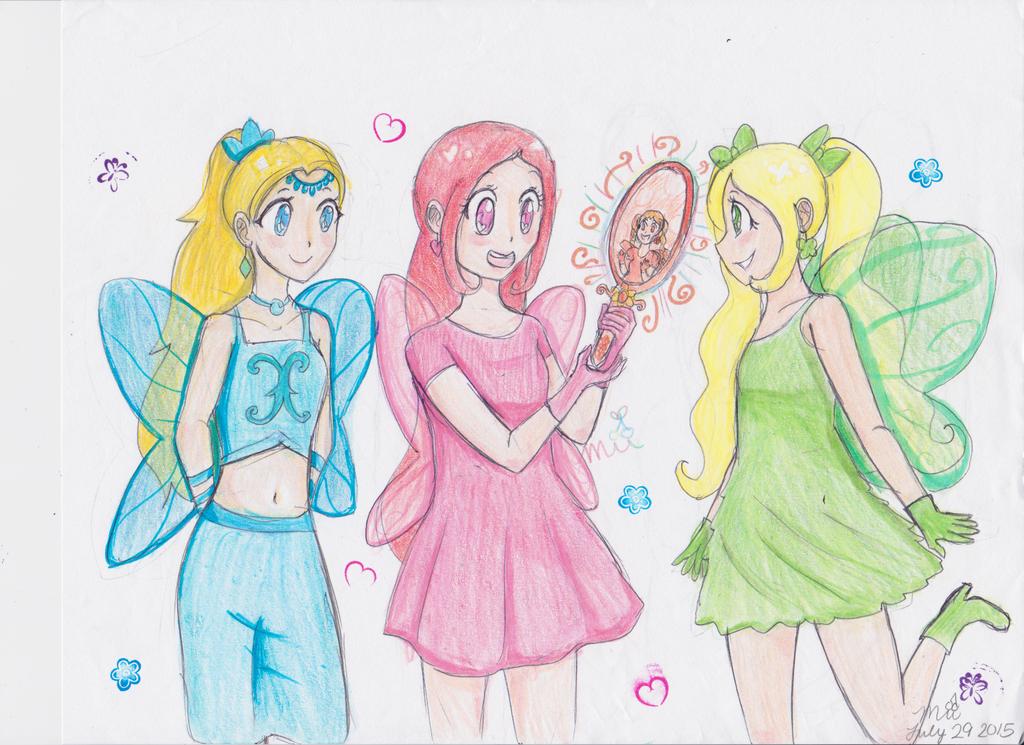 Rainbow Fairy Princesses: Honey's Mirror by cherrymeringue