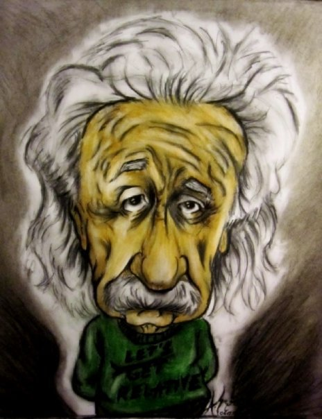 Albert Einstein Caricature by AlperSngn