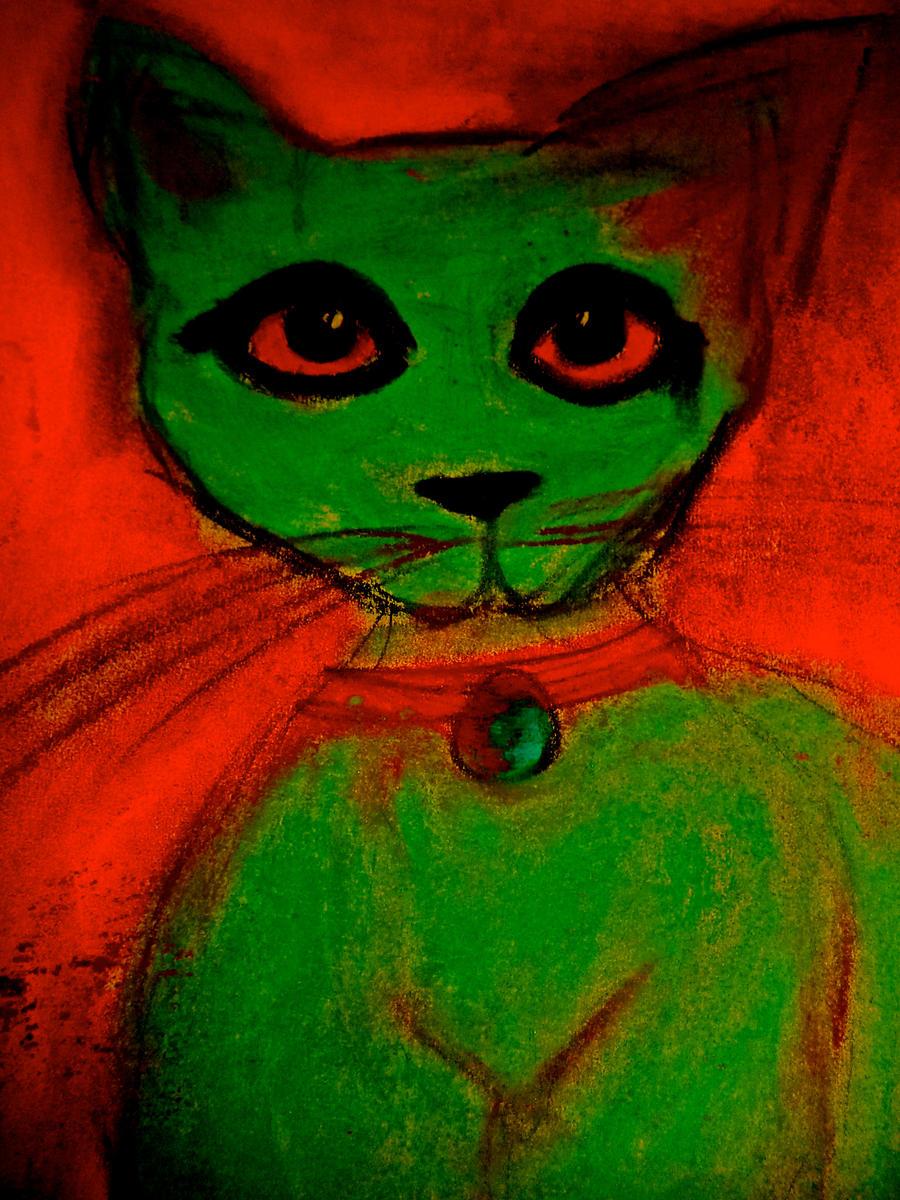 Weiiiiird cat by Darkerhaze