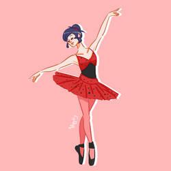 Miraculous ballet AU marinette cheng
