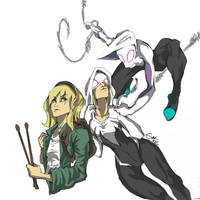 Spider-Gwen by Alazoso