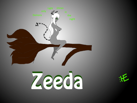 Zeeda sticking on a branch