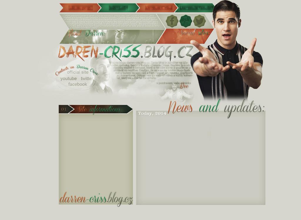 Layout for darren-criss.blog.cz by FlowerskaHoneyLand