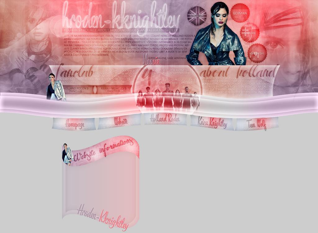 Layout for hroden-kknightley.blog.cz by FlowerskaHoneyLand