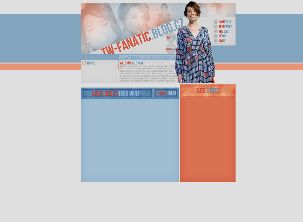 Layout for tw-fanatic.blog.cz by FlowerskaHoneyLand