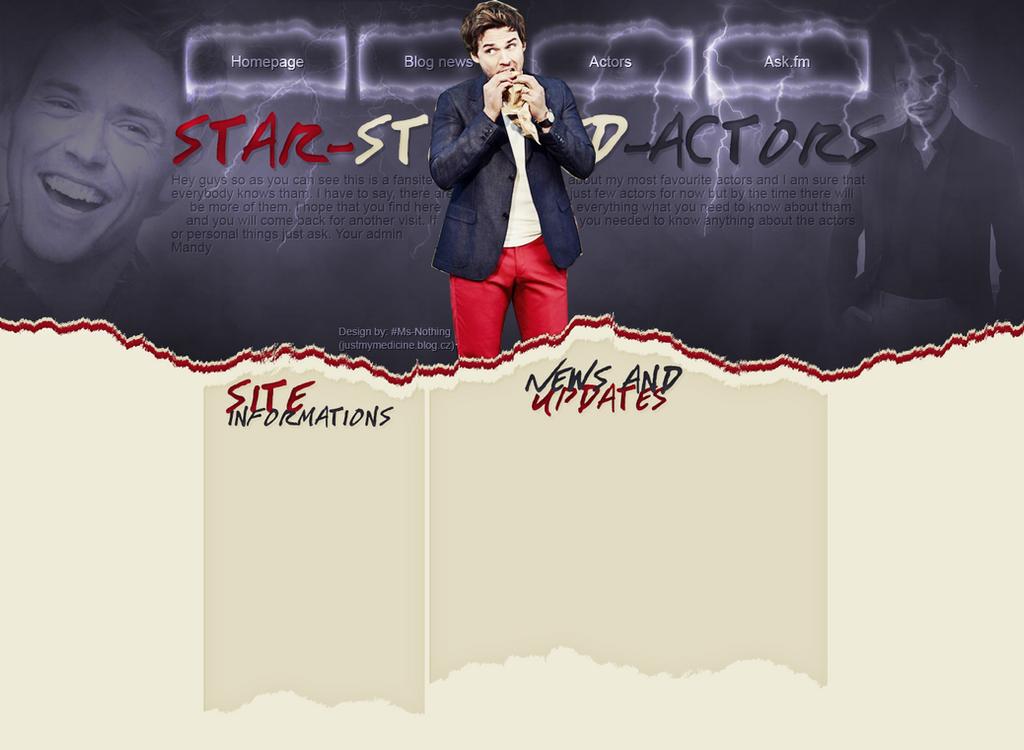 Design for star-studded-actors.blog.cz by FlowerskaHoneyLand