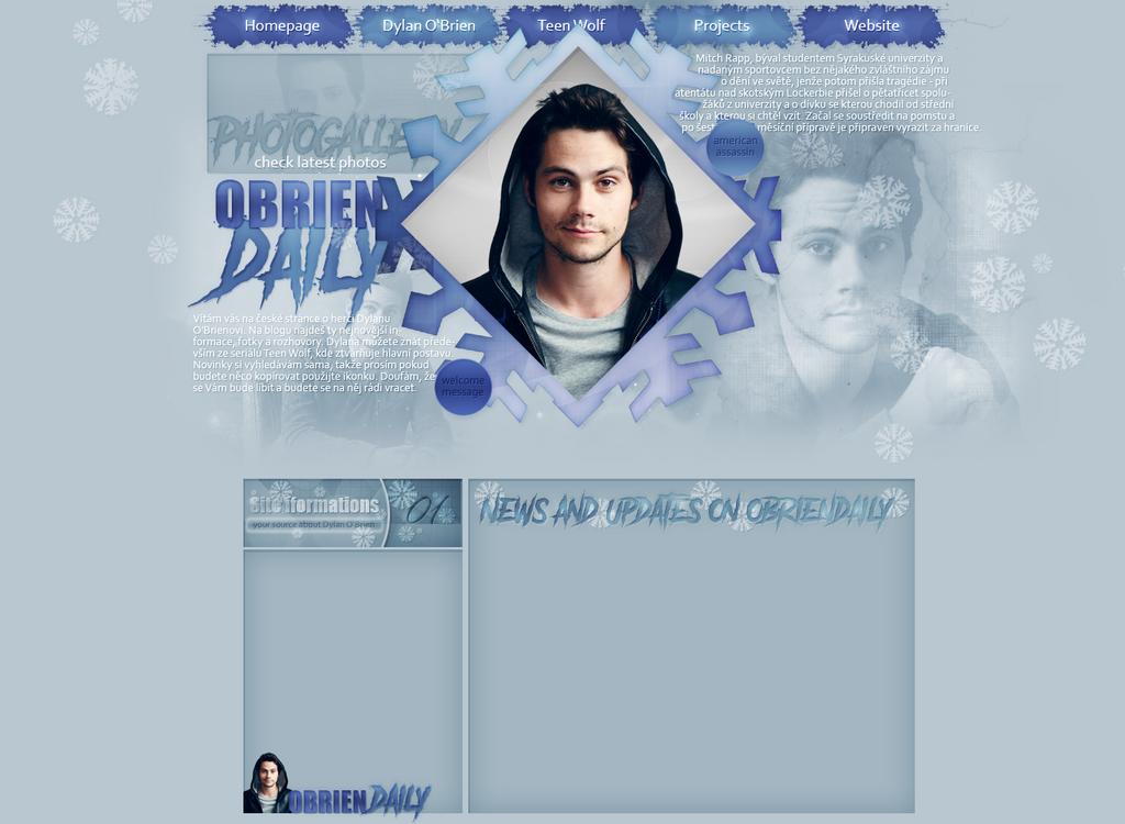 Design for obriendaily.blog.cz by FlowerskaHoneyLand