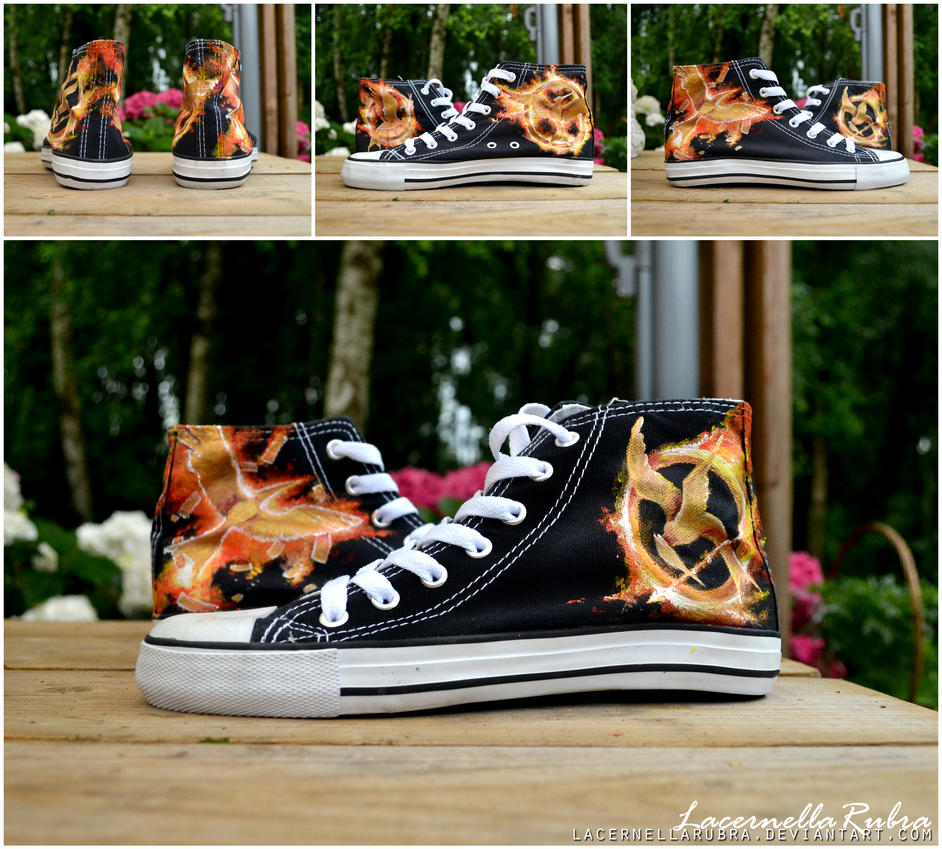 Hunger Games Shoes by LacernellaRubra