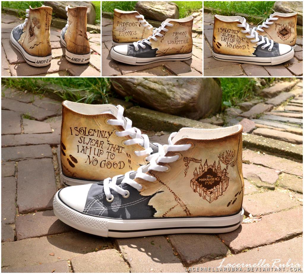 Marauder's Map Shoes by LacernellaRubra
