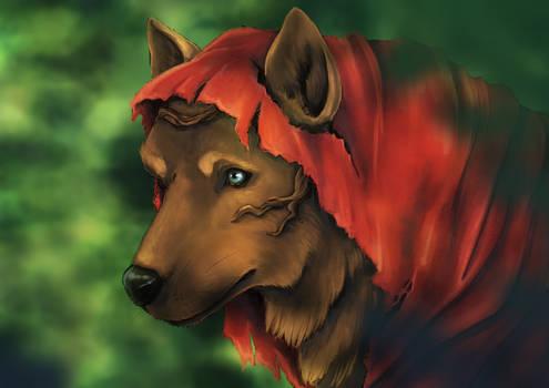 Ruby Wolf Portrait