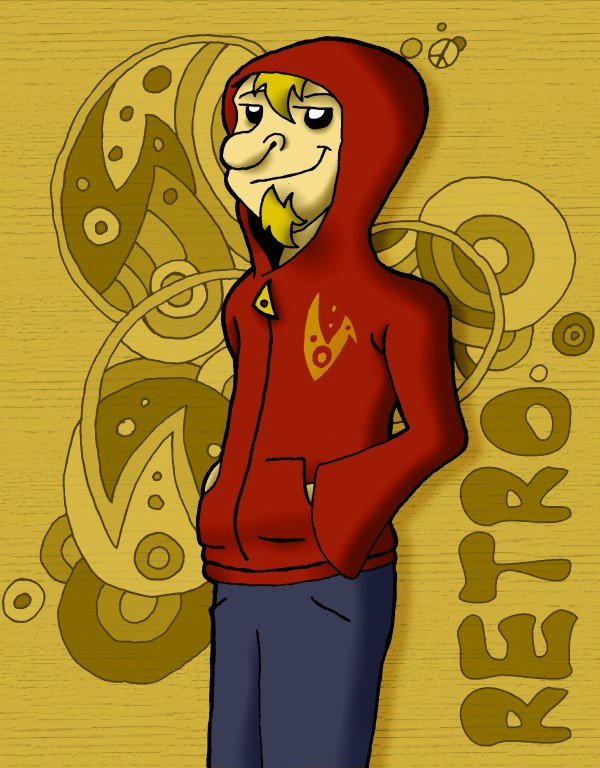Retro ina hoodie by Wiliam-C-Roberts