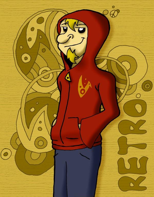 Retro ina hoodie by Wiliam-C-Roberts