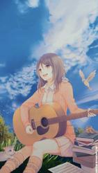 Guitarist Girl by arifstw