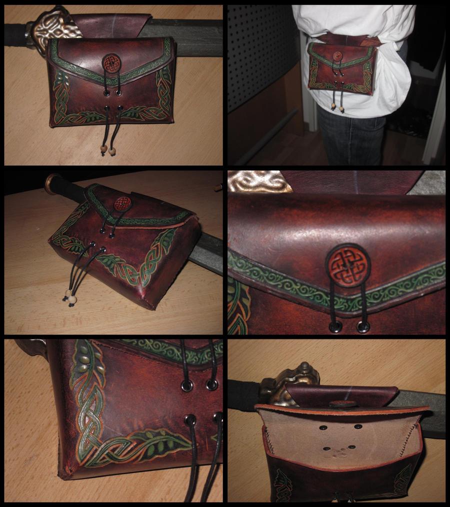 Belt bag carved 1 by akinra-workshop