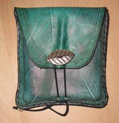 Square belt bag leaf printed