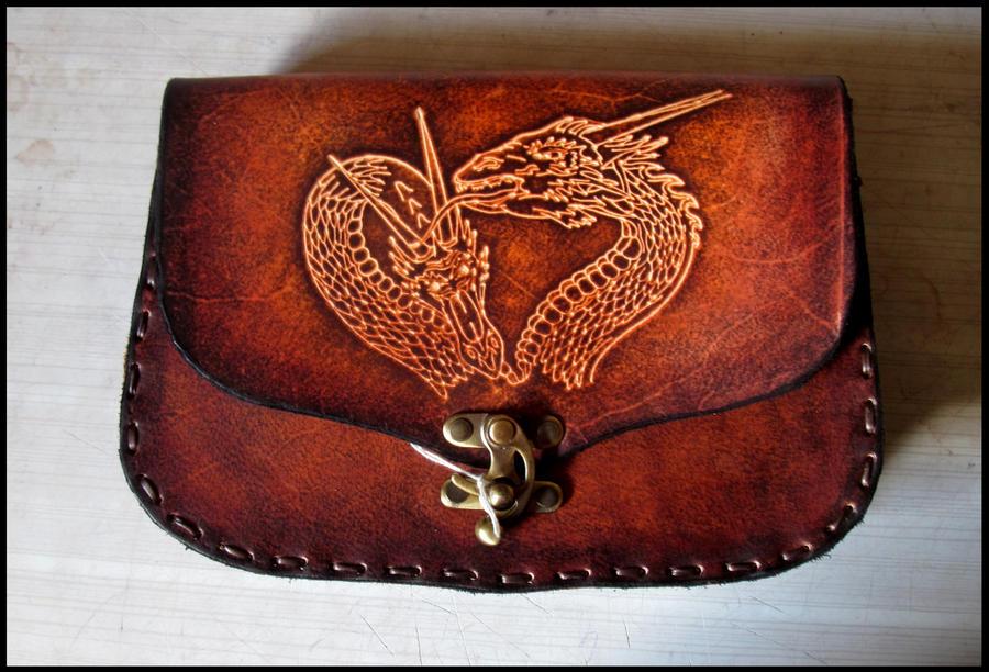Dragon leather belt bag by akinra-workshop