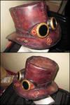 Steampunk hat with googles