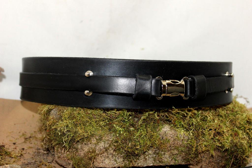 Jedi leather belt by akinra-workshop