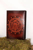 Ocarina of time, zelda A5 leather book cover by akinra-workshop