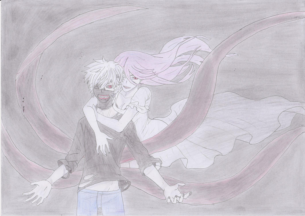 Kaneki and Lize by qsdfghjklmazertyuiop