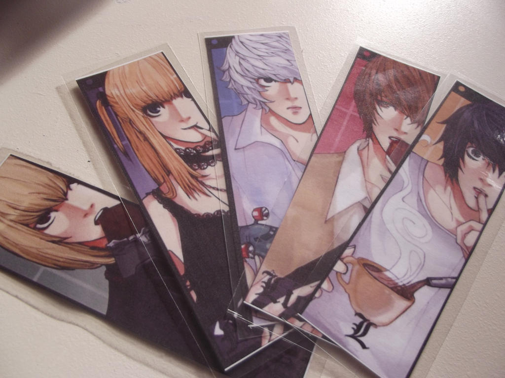DIY Death Note Bookmarks by Moozipan