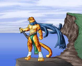 Runed Feline Warrior by Rei98