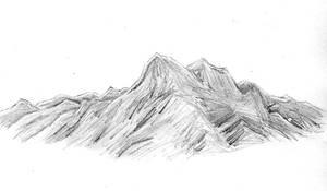 Mountain Range Pencil Sketch
