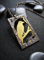 Metal Raven Necklace 3 by AbandonedMemory