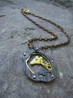 Copper Brass Giraffe Necklace by AbandonedMemory