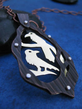 2 Ravens Riveted Necklace