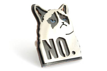 Grumpy Cat Meme Ring by AbandonedMemory